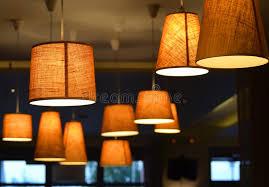coffee shop lighting. Download Lamps In A Coffee Shop Stock Photo. Image Of Inside, Floor - 45483612 Lighting N
