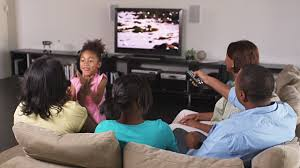 black kids watching tv. black kids watching tv