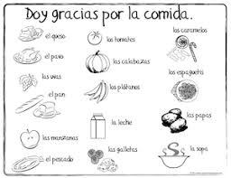 Spanish Thanksgiving Vocabulary Coloring Pages Dia De Gracias