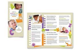 Free Templates For Publisher Kindergarten Tri Fold Brochure Microsoft Word Template