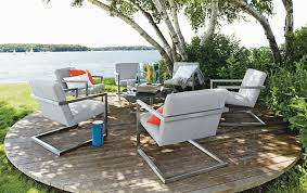 modern outdoor table and chairs. View In Gallery Modern Lounge Chairs For The Outdoors Outdoor Table And