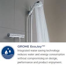 grohe 1000 thermostatic bath shower mixer. grohe grohtherm 1000 thermostatic bath shower mixer chrome 34156000 r