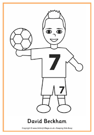 Small Picture Soccer Colouring Pages