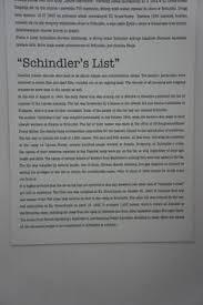 list essay schindlers list essay