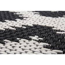 outdoor rugs indonesia bengkulu black white 80cm x 150cm