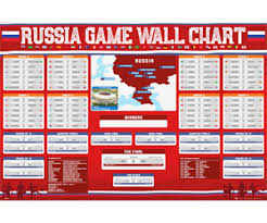2018 World Cup Wall Chart Russia 2018 World Cup Wall Chart Poster Unique Gifts Ideas