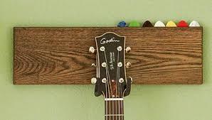nice diy guitar hook with pick holder