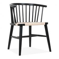 isabella wooden dining armchair with rattan seat black natural