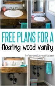 Bathroom Vanity Diy Diy Floating Wood Vanity Infarrantly Creative