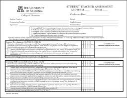 Student Evaluation Forms Student Teacher Evaluation Form College of Education University 1