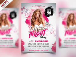 Saturday Night Party Flyer Psd Template | Psdfreebies.com