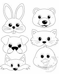 Maschere Di Animali Per Bambini Da Stampare E Ritagliare Lavoretti