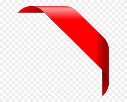 Red Ribbon Design 15 Red Corner Ribbon Vfree Corner Ribbon Vector Red Design
