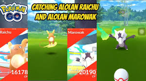 Catching Alolan Raichu and Alolan Marowak in Pokemon Go - YouTube