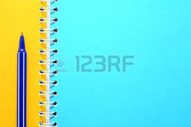 Inspirational Notebook With Colored Pages For Blue Pen On Notebook