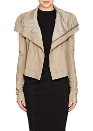 rick owens women s embellished blistered leather biker jacket