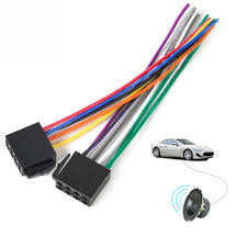 universal iso wire harness female adapter connector cable radio car radio wire connectors at Car Stereo Wire Connector