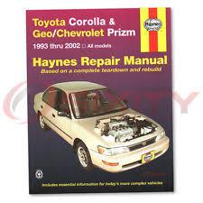 geo prizm repair manual haynes toyota corolla geo chevrolet prizm 93 02 repair manual 92036 shop vl