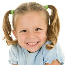 Resultado de imagen para peinado de dos colas para niña