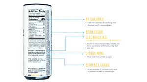 35 nutrition label michelob ultra