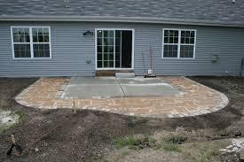 diy extending concrete patio with
