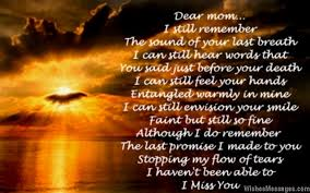 i miss you poems for mom after