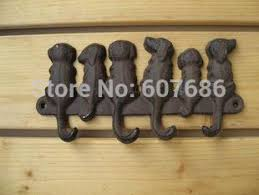 Coat Key Rack 100 Pieces Rustic Cast Iron 100 Dogs Key Rack Wall Mounted Wall Coat 57