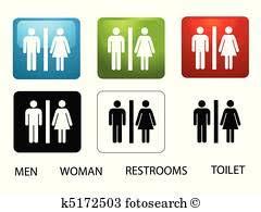public bathroom clipart. Plain Bathroom Womenu0027s And Menu0027s Toilets With Public Bathroom Clipart C