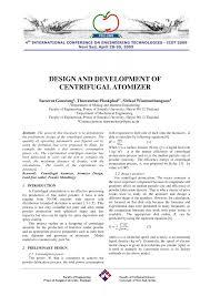 Atomiser Design Pdf Design And Development Of Centrifugal Atomizer