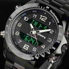 watches infantry mens digital quartz wrist watch black sport chronograph stainless steel