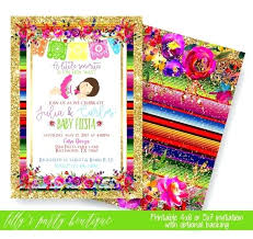 mexican themed baby shower invitations awe inspiring fiesta printable invitation within bathrooms