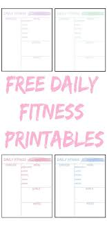 Free Daily Fitness Printables All Planners And Journals