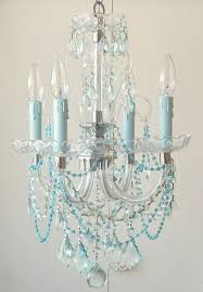 turquoise chandelier lighting. sea blue chandelier could rehab a small brass paint it white and add turquoise lighting g
