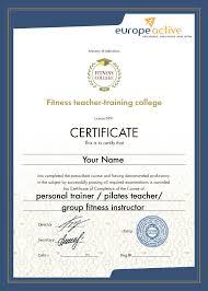 Международное обучение фитнес тренеров инструкторов Получение  europeactive всемирно известная европейская ассоциация деятельность которой направлена на развитие фитнес и велнес индустрии в мире