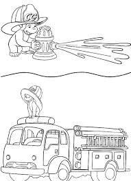 coloring pages fire truck curious george fire truck