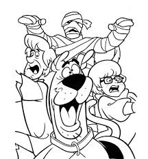 Small Picture Scooby Doo Monsters Unleashed Coloring Pages Hallowen Coloring