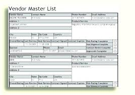 Excel Address Template Wedding Guest List Template Excel