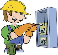 fuse box electrician clip art vector images illustrations istock electrician repairing an electrical panel vector art illustration