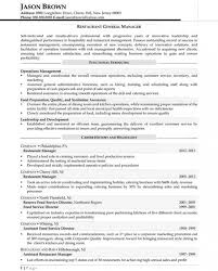 Resume Template Restaurant General Manager - Template