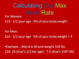 8 calculating our max heart rate
