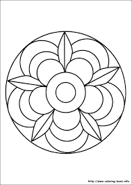 Simple Mandala Flower Coloring Pages Design Vector Photo Easy Plus