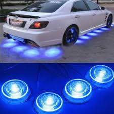 Blue Led Lights For Car Possbay 8 Pcs Led Blue Light Car Glow Underbody System Neon Lights Night Decoration External Light Bulbs