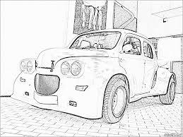 Imprimer Le Coloriage Vehicules Voiture Renault Numero L