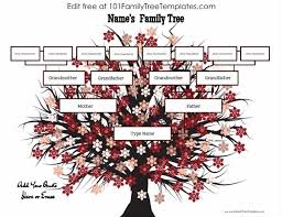 make a family tree online 4 generation family tree template free to customize print
