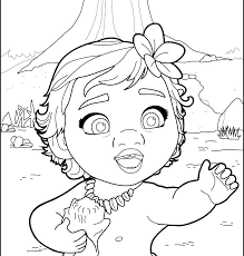 Coloring Pages Free Printable Disney Moana Coloring Pages To Print