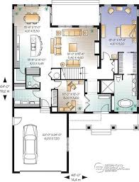 home office plan. 1st Level Cape Cod Style Home Plan, 4 Bedrooms, Office For 2, Plan