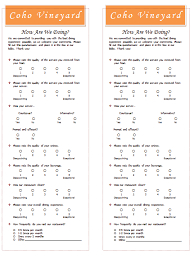 Restaurant Survey Template Templates For Microsoft Word