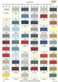 Vw Spring Color Chart Color Chart Auto Paint Google Search Paint Color Chart
