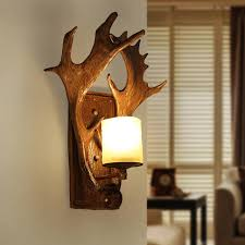 country lighting fixtures for home. American Country Deer Antler Wall Lamps Pastoral Retro Lights Fixture Home Indoor Lighting Cafes Fixtures For N
