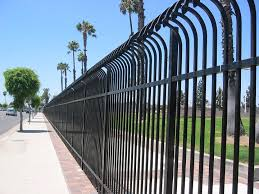 these metal fence panels are combined with the beauty of ornamental fencing in the high security design each picket is spear topped and extends above the